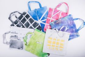 TOTE BAG 100% COTTON HAND PAINTED
