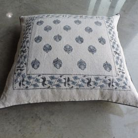 CUSHION COVER WITH LEAF DESIGN
